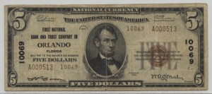 1929 Type 2 $5 Note Charter #10069
