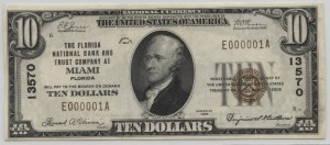 1929 Type 1 $10 Note Charter #13570