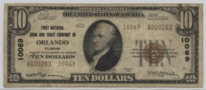 1929 Type 2 $10 Note Charter #10069