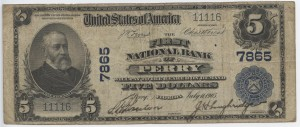 1902 Plain Back $5 Note Charter #7865