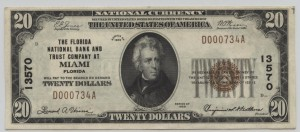 1929 Type 1 $20 Note Charter #13570