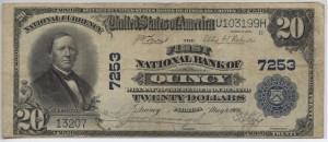 1902 Plain Back $20 Note Charter #7253