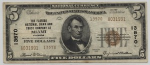 1929 Type 2 $5 Note Charter #13570
