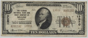 1929 Type 2 $10 Note Charter #13570