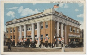 First National Bank, Bradentown Post Card