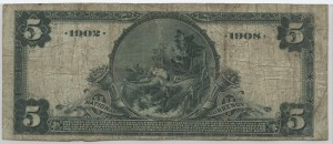 1902 Date Back $5 Note Charter #7253