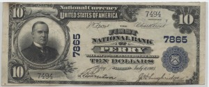 1902 Plain Back $10 Note Charter #7865