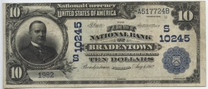 1902 $10 Date Back Charter #10245