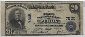 1902 Plain Back $20 Note Charter #7865