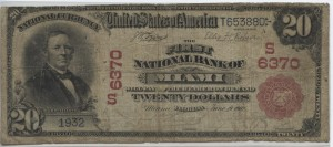 1902 Red Seal $20 Note Charter #6370