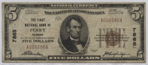 1929 Type 1 $5 Note Charter #7865