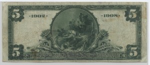 1902 Date Back $5 Note Charter #6370
