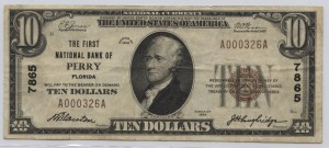 1929 Type 1 $10 Note Charter #7865