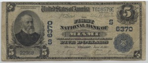 1902 Plain Back $5 Note Charter #6370