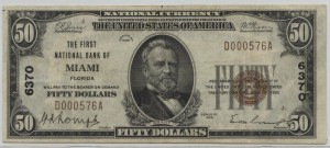 1929 Type 1 $50 Note Charter #6370
