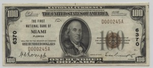 1929 Type 1 $100 Note Charter #6370