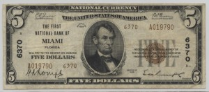 1929 Type 2 $5 Note Charter #6370