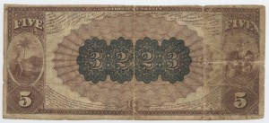 1884 Brown Back $5 Note Charter #3223