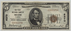 1929 Type 1 $5 Note Charter #6370
