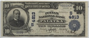 1902Plain Back $10 Note Charter #4813
