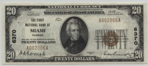 1929 Type 1 $20 Note Charter #6370
