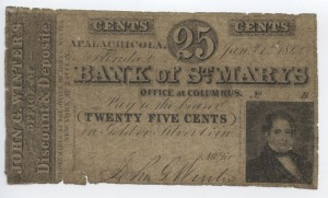 1842 25 Cent Note