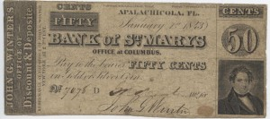 1842 50 Cent Note