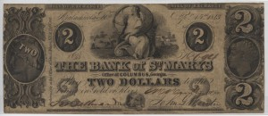 1843 Rare Issued $2