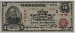 1902 Red Seal $5 Note Charter #S7190
