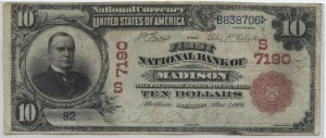 1902 Red Seal $10 Note Charter #S7190