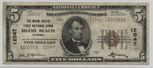 1929 Type 2 $5 Note Charter #12047