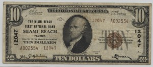 1929 Type 2 $10 Note Charter #12047