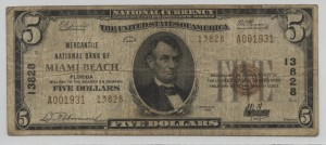 1929 Type 2 $5 Note Charter #13828