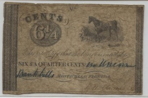 1837-1840 6 1/4 Cent Note from Harley L. Freeman Collection