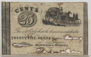 1837-1840 .25 Cent Note from Harley L. Freeman Collection