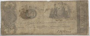 1837-1840 .50 Cent Note