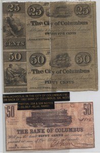 Partial 25 Cent Note and 50 Cent Notes