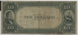 1882 Value Back $10 Note Charter #6055