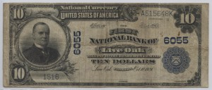 1902 Plain Back $10 Note Charter #6055