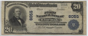 1902 Plain Back $20 Note Charter #6055