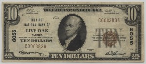 1929 Type 1 $10 Note Charter #6055