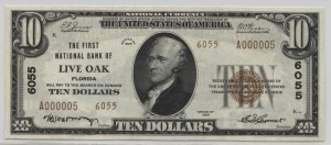 1929 Type 2 $10 Note  Charter #6055