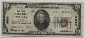 1929 Type 2 $20 Note Charter #6055
