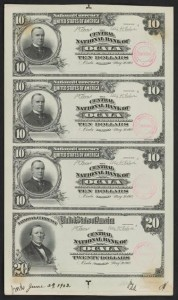 $10 & $20 Proof Sheet Source: Smithsonian Florida Proof Project