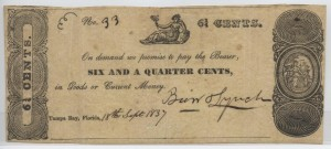 1837 6 1/4 Cent Note