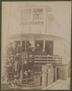 The Astatula Steamboat actual photo from Feb 20, 189_ (2 of Hart's 2 Steamboats)