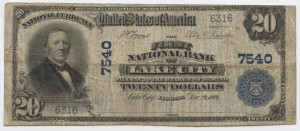 1902 Plain Back $20 Note Charter #7540