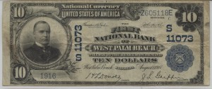 1902 Plain Back $10 Note Charter #11073