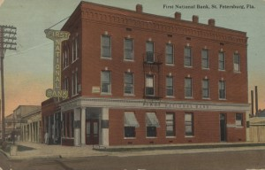 Post Card of First National Bank