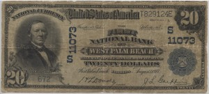 1902 Plain Back $20 Note Signed Donold, Cash. and Griffin, Pres. Charter #11073